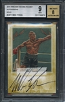 2010 Ringside Boxing Round 1 Autographs Gold Mike Tyson BGS 9 MINT 8 AUTO