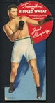 1940s Rippled Wheat Die Cut Jack Dempsey Ad Piece