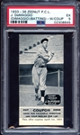 1933-36 Zeenut PCL Joe DeMaggio (DiMaggio)(Batting) with Coupon PSA 5 EX