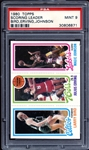 1980 Topps Bird / Erving / Johnson PSA 9 MINT