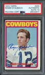 1972 Topps #200 Roger Staubach PSA/DNA Cert AUTH AUTO 10