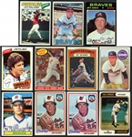 1950s-70s Topps Baseball Card Lot of HOFers and Stars (11)