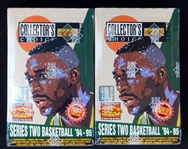 1994-95 Upper Deck Basketball Collectors Choice Series 2 Group of (2) Unopened Hobby Boxes