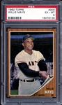 1962 Topps #300 Willie Mays PSA 6 EX/MT