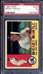 1960 Topps #350 Mickey Mantle PSA 3 VG