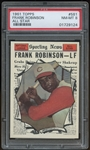 1961 Topps #581 Frank Robinson All Star PSA 8 NM-MT