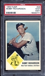 1963 Fleer #25 Bobby Richardson PSA 9 MINT (ST)