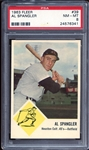 1963 Fleer #39 Al Spangler PSA 8 NM/MT