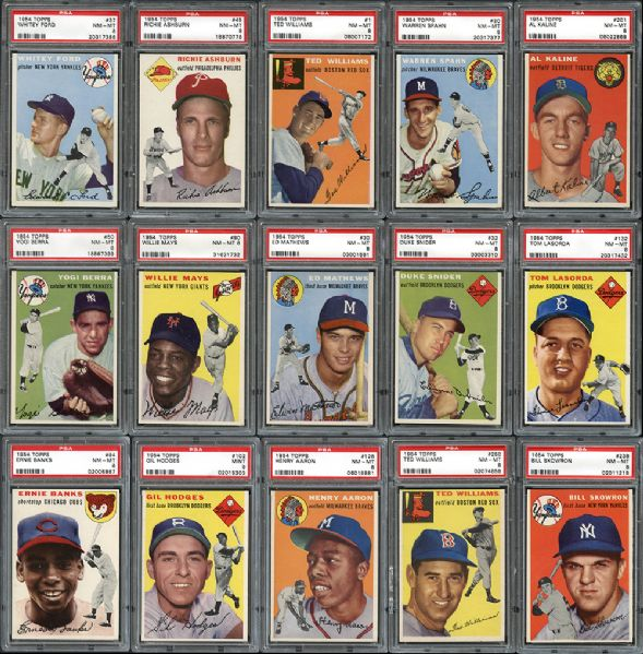 1954 topps baseball, buy and sell my sports cards