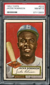 1952 Topps #312 Jackie Robinson PSA 8 NM/MT